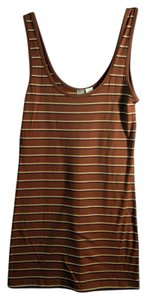 Nordstrom Striped Top brown stripe