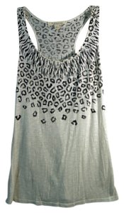 Forever 21 Animal Print Top off white and black