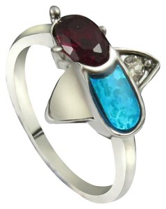 Garnet & Opal Fashion Ring Free Shipping