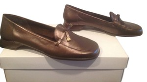Enzo Angiolini Front Tassles Bronze Flats