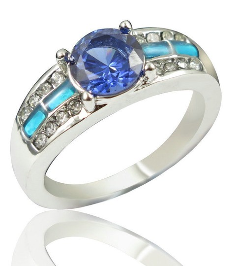 Multi Color Bogo Free Blue Fire Opal Fashion Free Shipping Ring Image 1