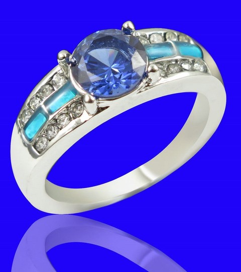 Multi Color Bogo Free Blue Fire Opal Fashion Free Shipping Ring Image 2