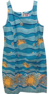 Lilly Pulitzer short dress Blue,white,yellow Blue on Tradesy