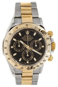 Rolex Rolex Daytona Two Tone Black Face Dial Watch 116523