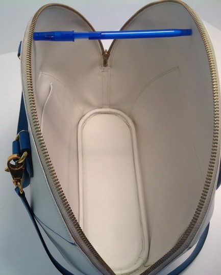 Hermès Vintage Rare Satchel in White and Blue Image 1