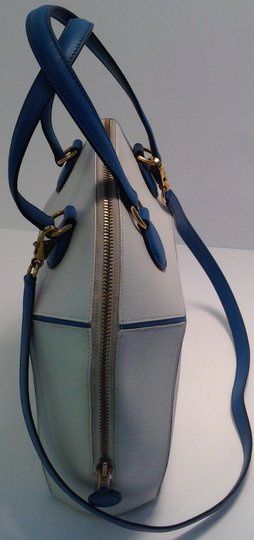 Hermès Vintage Rare Satchel in White and Blue Image 4