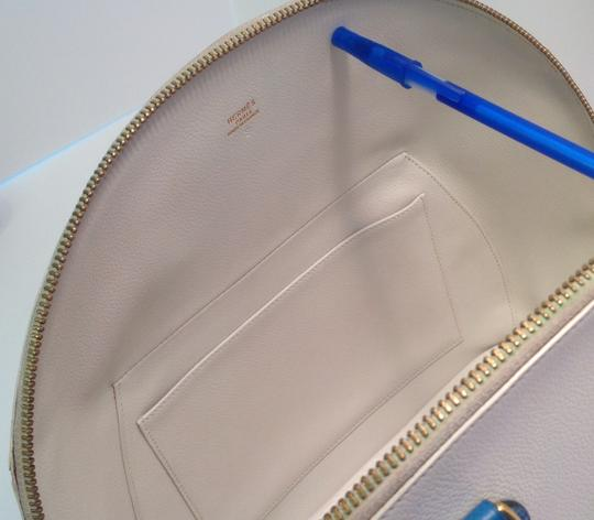 Hermès Vintage Rare Satchel in White and Blue Image 6