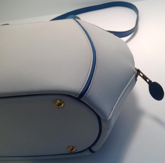 Hermès Vintage Rare Satchel in White and Blue Image 8
