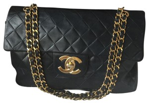 Chanel Navy Quilted Large Flap Shoulder Bag