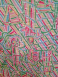 Lilly Pulitzer Top White, pink, green