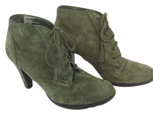 White Mountain Suede Ankle Boot Granny Olive Green Boots
