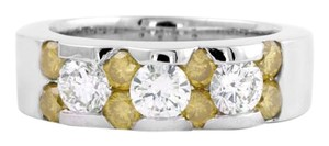 Other 18K Yellow and White Diamond Channel Set Ring in White GOld