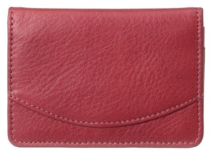 Other Tusk ~ Business Card Case With ID Holder ~Red Leather ~ NWT
