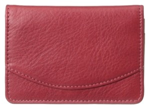 Tusk ~ Business Card Case With ID Holder ~Red Leather ~ NWT