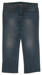 Lucky Brand 5 Pocket Style Zip Fly Cotton/spandex Style: 7wp1104 Capri/Cropped Denim-Medium Wash