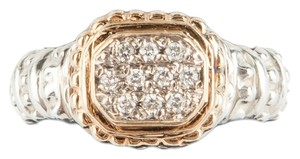VAHAN Vahan Silver and Gold Ring with Diamonds