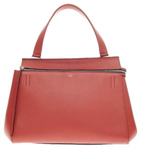 Céline Celine Leather Tote in Red