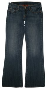 Lucky Brand 5 Pocket Style Button Fly Low Rise Cotton/spandex Style: 7wp1083 Flare Leg Jeans-Dark Rinse