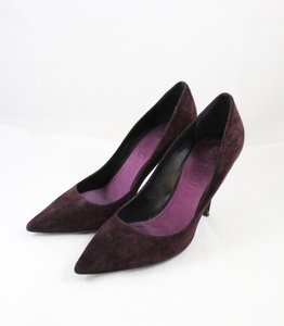 Burberry Suede Pointed Toe Purple Pumps