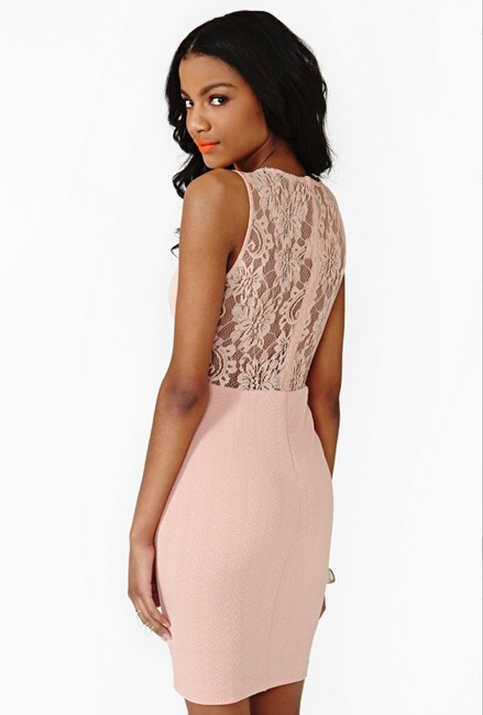 Nasty Gal Cut-out Sheer Lace Textured Bodycon Dress Image 1