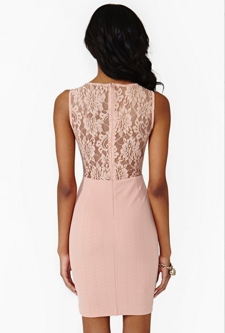 Nasty Gal Cut-out Sheer Lace Textured Bodycon Dress Image 4