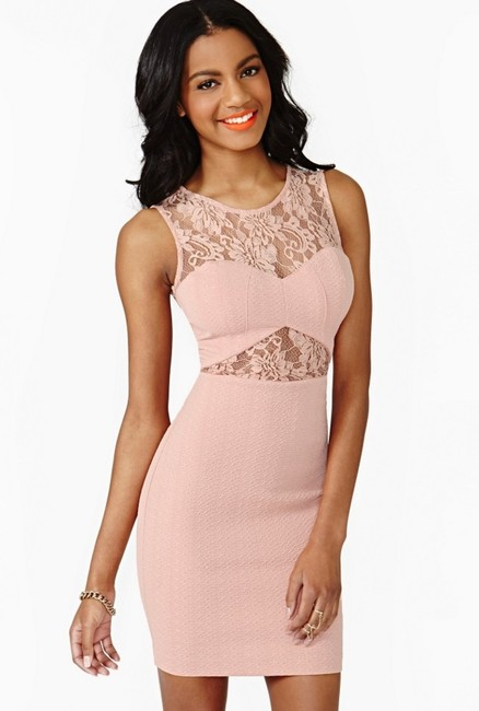 Nasty Gal Cut-out Sheer Lace Textured Bodycon Dress Image 5