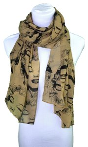 SOLD OUT Pinup Scarf ala Marilyn In Brown and Black