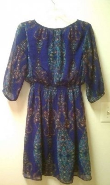 Nicole Miller short dress Purple on Tradesy