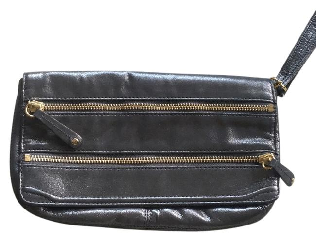 Item - Eve Gray/Silver Leather Clutch