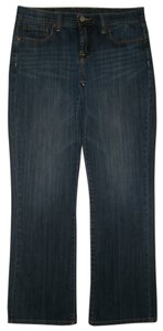 Lucky Brand 5 Pocket Style Zip Fly Cotton/spandex Boot Cut Jeans-Dark Rinse