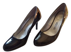 Kenneth Cole Black Patten Pumps