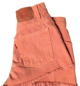 Levi's Cut Off Shorts Peach