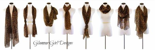 Other SOLD OUT Pinup Scarf ala Marilyn In Brown and Black