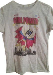 Bat Girl Super Girl T Shirt White
