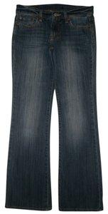 Lucky Brand 5 Pocket Style Zip Fly Low Rise Style: 7wd1289 Cotton/spandex Boot Cut Jeans-Dark Rinse