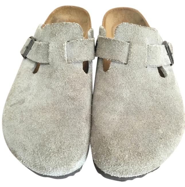Item - Taupe Suede Mules/Slides Size US 7.5 Narrow (Aa, N)