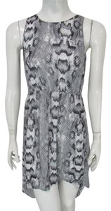 Divided by H&M short dress Gray Snakeskin Hi Low Floral Lace on Tradesy
