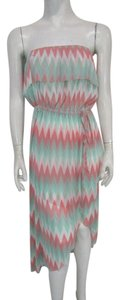 Cynthia Rowley short dress Multicolored Strapless Tiered on Tradesy