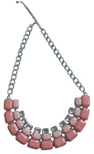Pink bib necklace