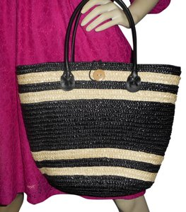 Other Tote in Black & natural
