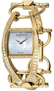 Gucci Gucci Chiodo 123 Solid 18k Yellow Gold & Diamonds Ladies Watch