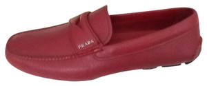 Prada Deep RED Flats