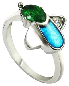 Multi Colored Opal Fashion Ring Free Shipping