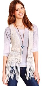 Dolled Up Crochet Fringe Boho Vest