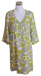 Boden short dress Green Silk Gray on Tradesy