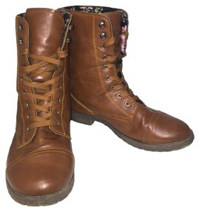 Rue 21 Leather Women Brown Boots