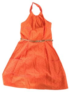 London Times short dress Orange on Tradesy