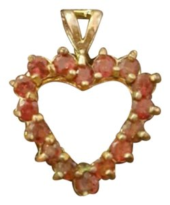 Other Gold pendant with red stones