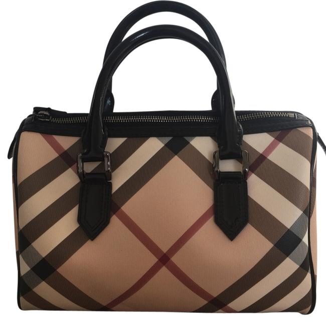 Item - Bowling Bag Nova Check Beige Leather Baguette