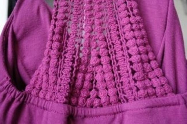 Other short dress Magenta Crochet Summer on Tradesy